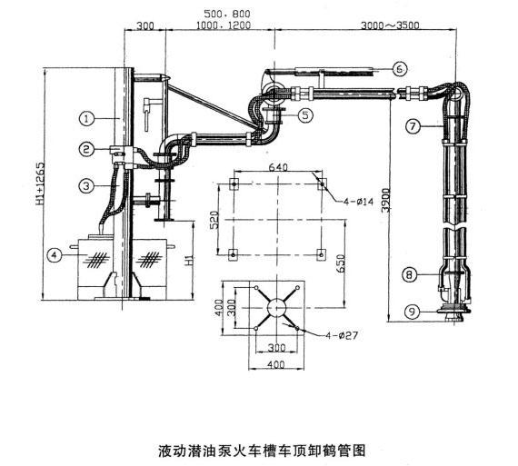 火车液动潜油泵装卸鹤管