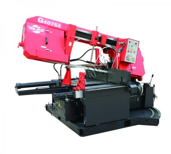 G4075X可转角卧式型钢专用带锯床